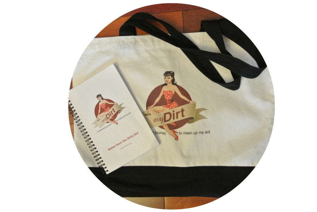 tote bag and note book with pin up girl on it