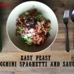 zucchini spaghetti and sauce