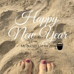 Happy New Year toes on the beach