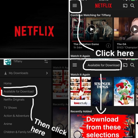 how to download shows on netflix