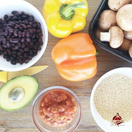 quinoa veggie taco bowl