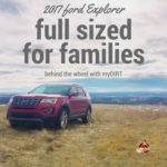 2017 ford explorer full sized for families