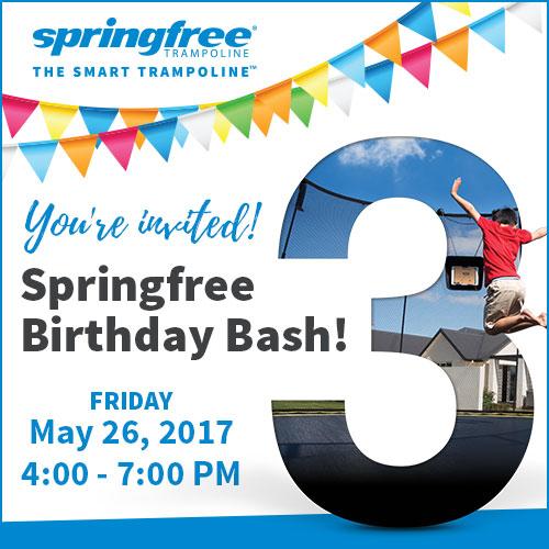 springfree trampoline birthday bash
