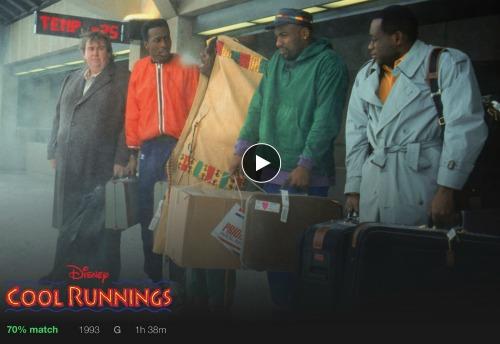 Cool Runnings on Netflix