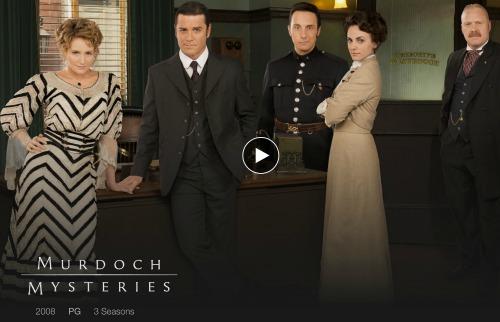 Murdoch Mysteries on Netflix