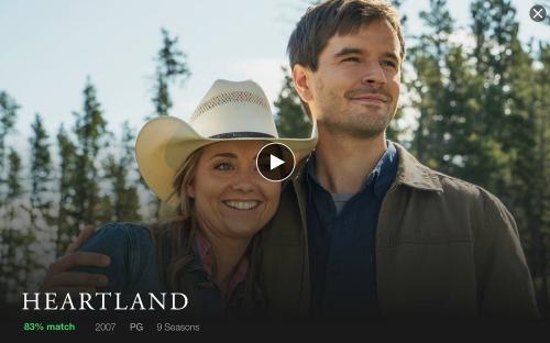 Heartland on netflix