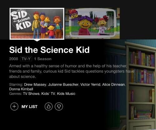 sid the science kid on netflix