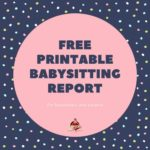 printable babysitting report